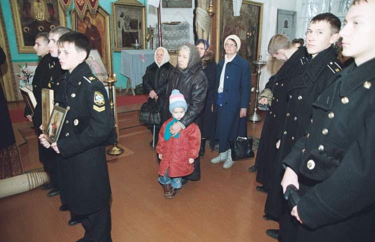 3 декабря 2006 года. Нахимовец Артём Сазонов в Коростыне.