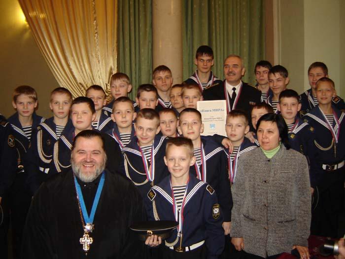 13.02.2006 Епископ Назарий, Е.И.Пешиков и кронштадтские кадеты