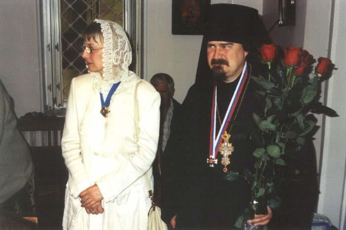 22.07.2006 архимандрит Сергий, настоятель Нововалаамского монастыря и Е.В.Бабич